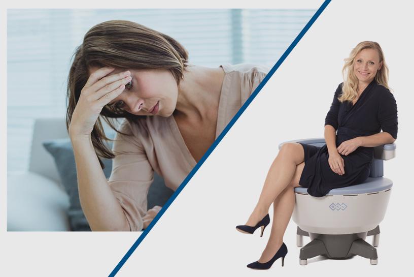כיסא ™EMSella לטיפול בבעיית בריחת שתן